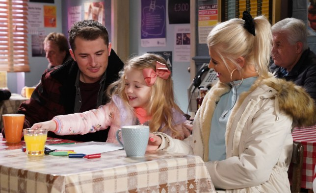 Lola and Ben with Lexi in EastEnders