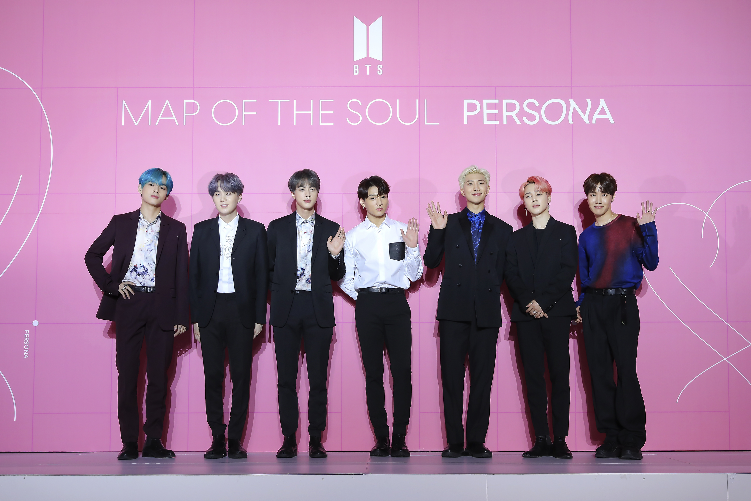 BTS at a Map Of The Soul Persona press conference