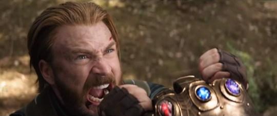 captain america infinity war thanos gauntlet