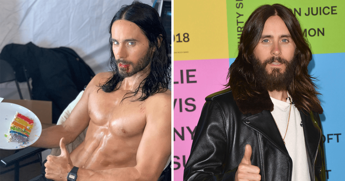 Jared Leto is eating rainbow cake topless in first shot from Marvel?s Morbius