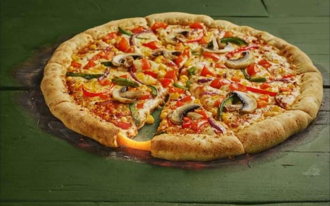 Tobasco stuffed crust pizza