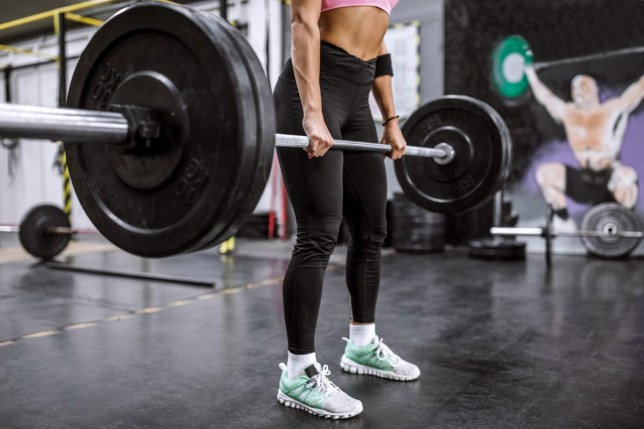 Heavy Weightlifting In Gym
