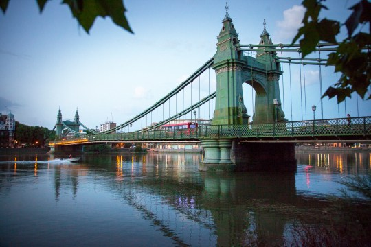Hammersmith Bridge has been closed for people's safety (Picture: Getty)