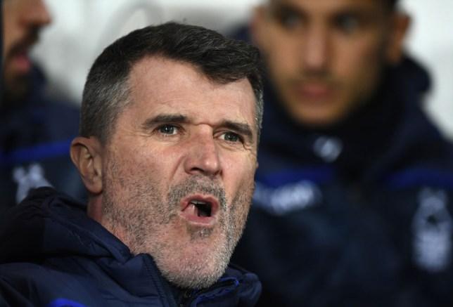 Keane looking angry