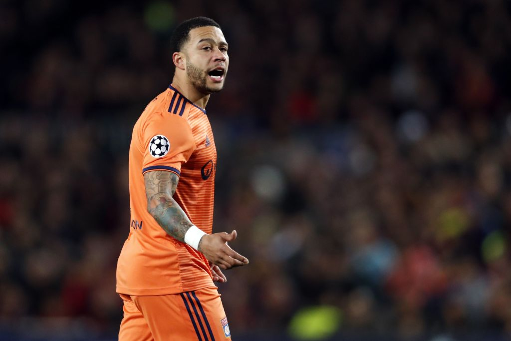 Memphis Depay and Nabil Fekir come to blows with Lyon team-mates during training