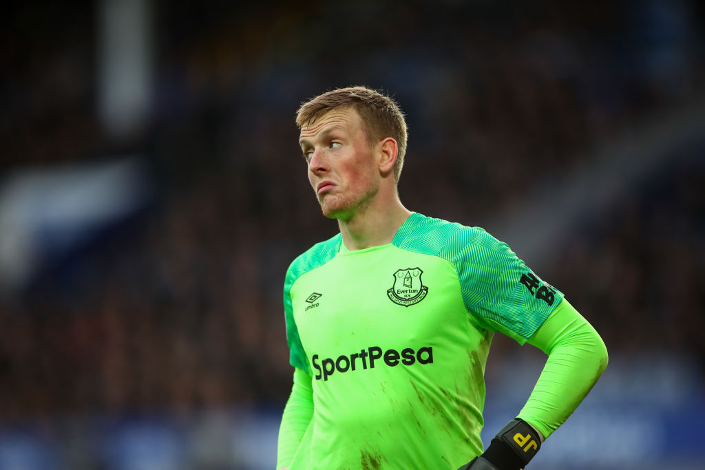Manchester United are considering Jordan Pickford as David de Gea's replacement