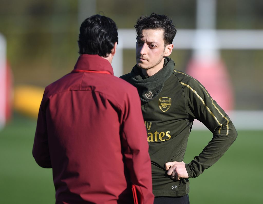 Unai Emery reveals he has FINALLY worked out Mesut Ozil's best position for Arsenal