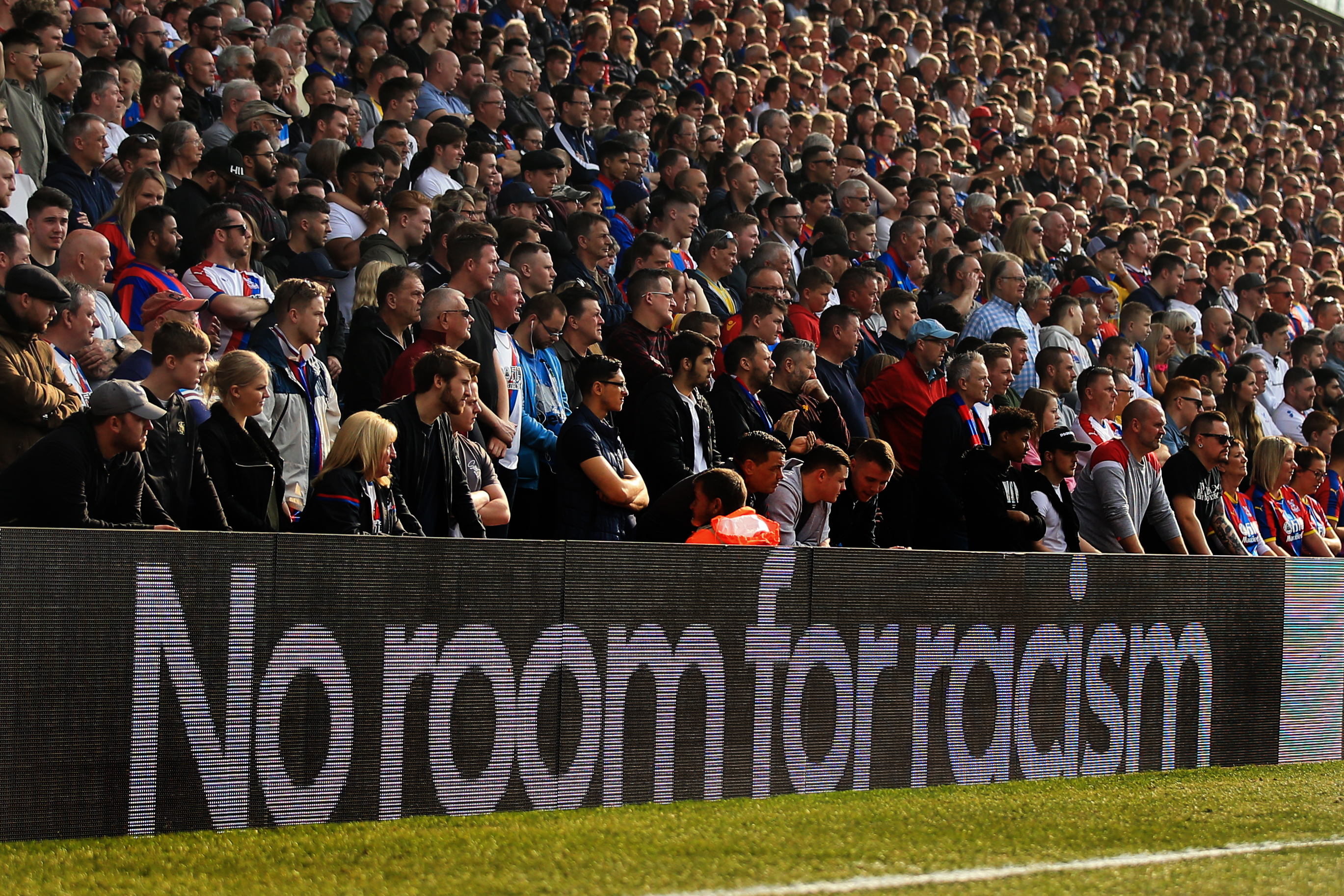 Anti-racism messaging in football