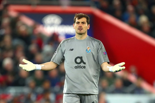 finest selection e8df8 34bf1 Iker Casillas digs out Mohamed Salah after Liverpool beat ...