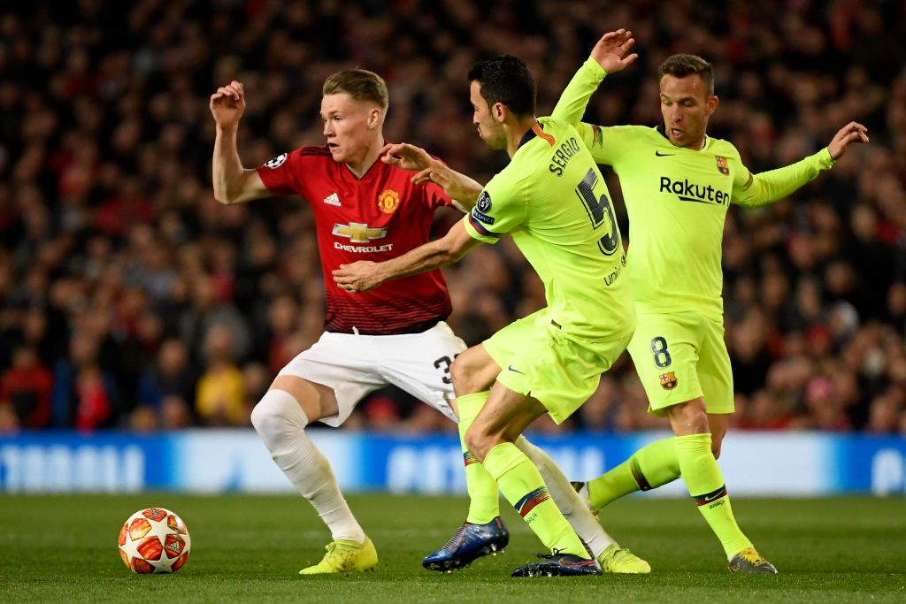 Scott McTominay personification for Manchester United opposite Barcelona