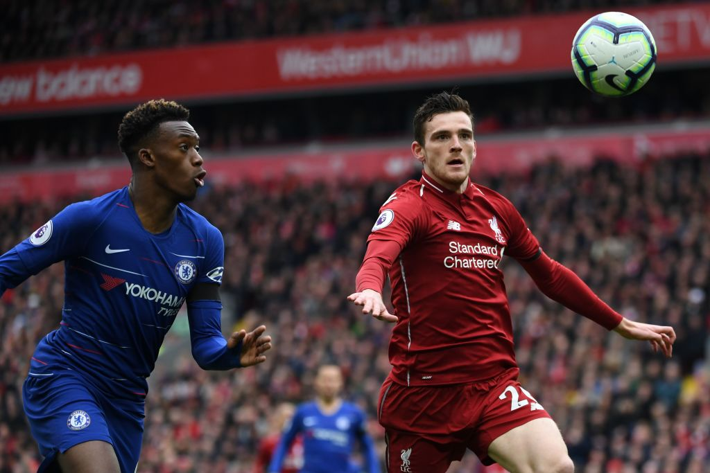 Andrew Robertson rates Liverpool target and Chelsea star Callum Hudson-Odoi