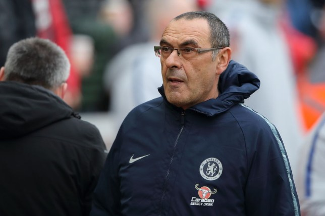 Chelsea boss Maurizio Sarri is under presure
