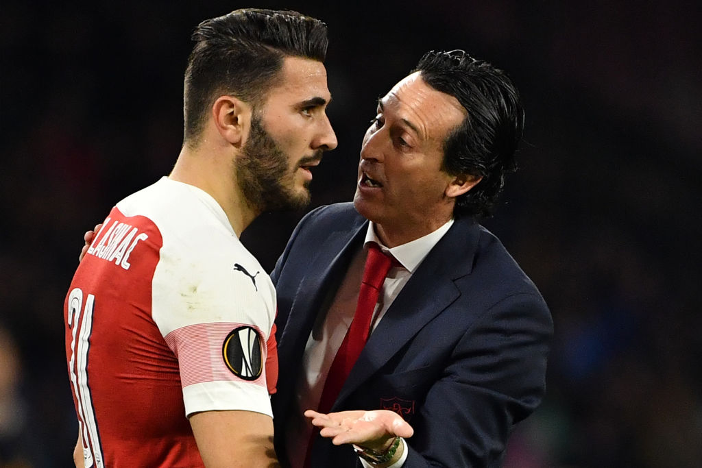 Unai Emery must decided how best to cope without the injured Aaron Ramsey