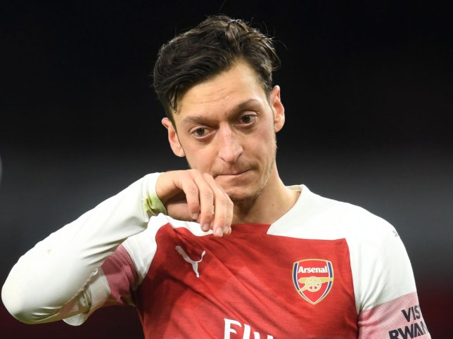 Mesut Ozil is sidelined for Arsenal with a foot injury