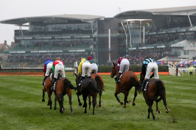 Riders at the Grand National in Aintree