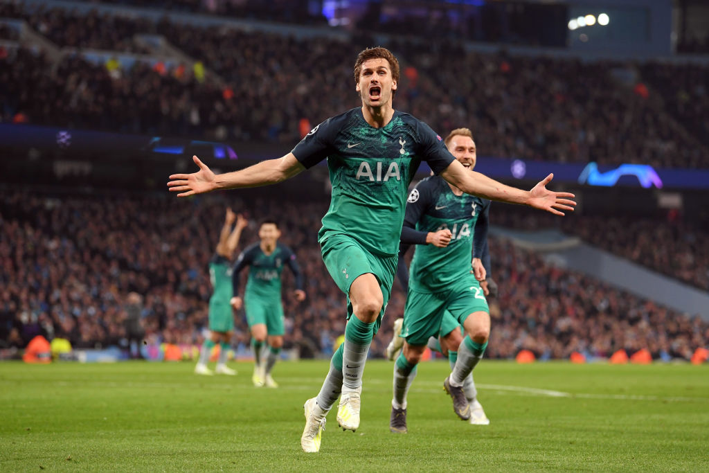 Fernando Llorente scored the goal that sent Spurs into the Champions League semi-final