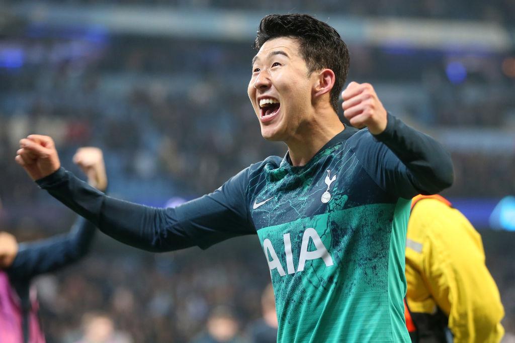 Son Heung-min scored a first-half brace as Tottenham ended Manchester City's quadruple hopes