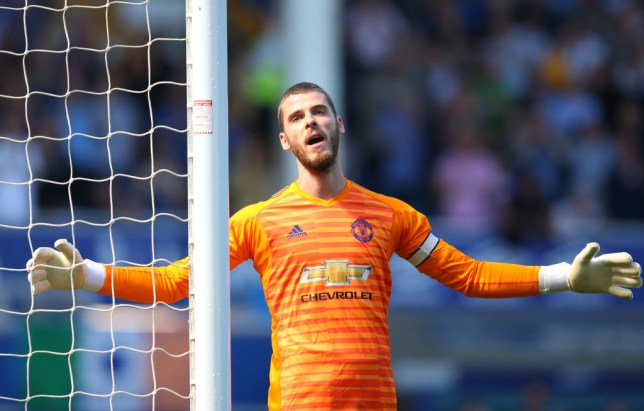 De Gea endured a difficult afternoon at Goodison Park