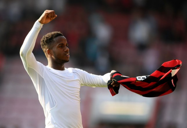 BOURNEMOUTH, ENGLAND - APRIL 20: Ryan Sessegnon of Fulham FC applauds the fans during the Premier League match between AFC Bournemouth and Fulham FC at Vitality Stadium on April 20, 2019 in Bournemouth, United Kingdom. (Photo by Alex Davidson/Getty Images)