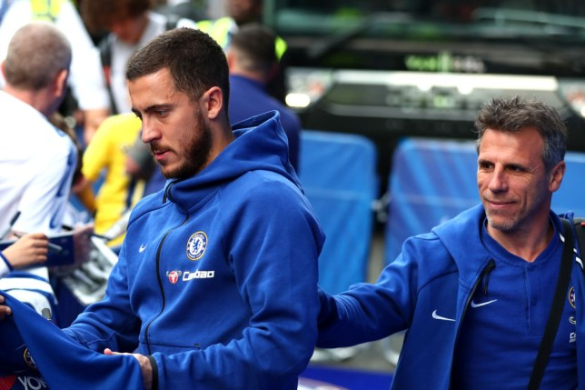 Eden Hazard was asked about Manchester United, Arsenal and Tottenham's defeats