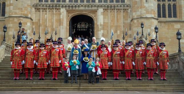 Queen Elizabeth II attending a Maundy service