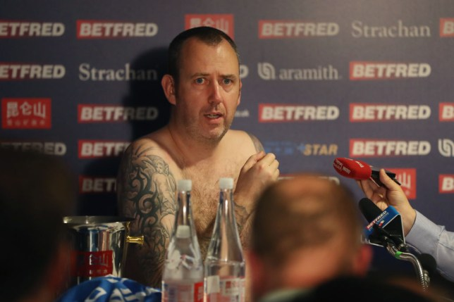 Mark Williams doing his press conference naked