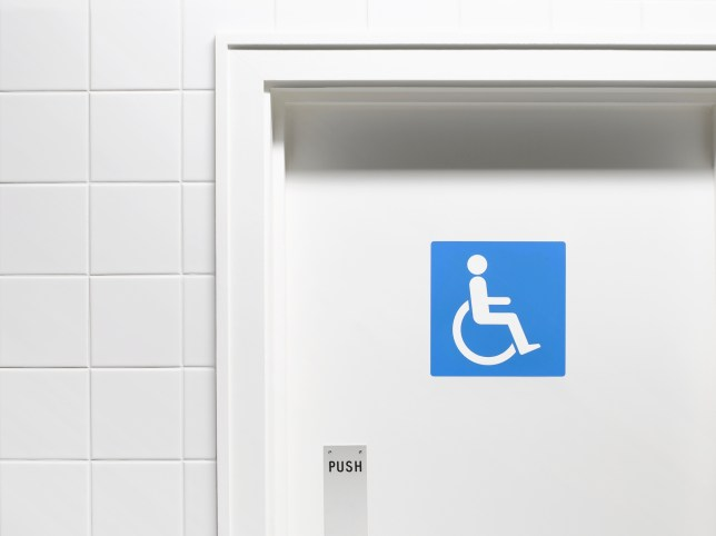 Disabled toilet door