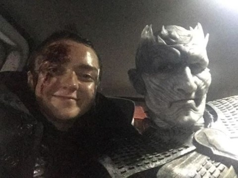 Maisie Williams and the Night King actor share a cute Battle of Winterfell behind the scenes selfie on Game of Thrones set