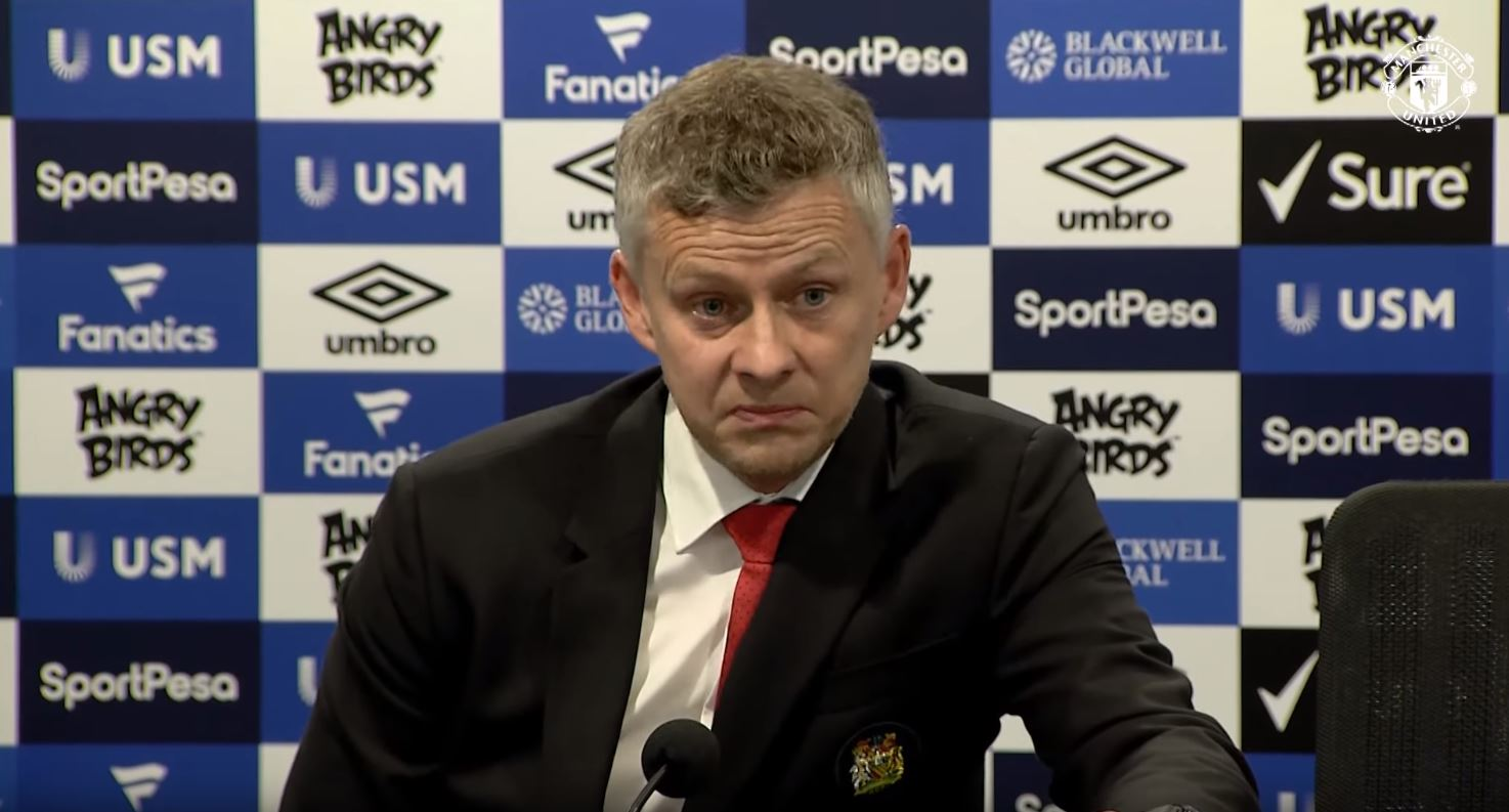 Ole Gunnar Solskjaer admits he is unsure if Manchester United's players care after their defeat to Everton
