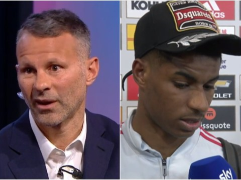Ryan Giggs criticises Marcus Rashford for wearing a cap after Manchester United's defeat to Man City