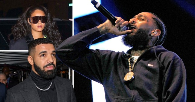 4cc9202ecaec Nipsey Hussle dies aged 33 in Los Angeles shooting  Rihanna and Drake lead  tributes