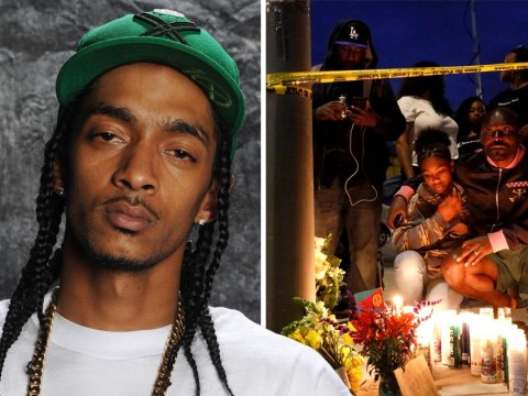 Nipsey Hussle's fans hold vigil at scene of his death as rapper is killed aged 33