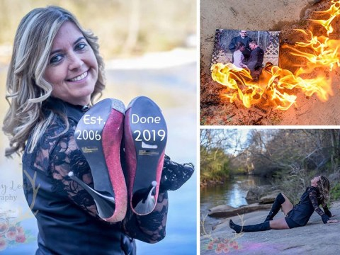 Woman celebrates splitting from husband with divorce photoshoot