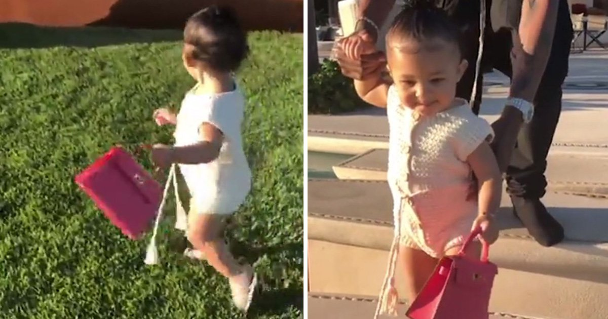 Stormi Webster carries Birkin bag better than any adult as Kylie Jenner and Travis Scott pamper tot