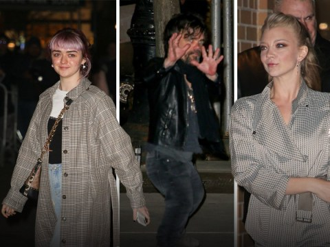 Maisie Williams goes for a cast dinner with her Game Of Thrones co-stars as Season 8 hysteria mounts