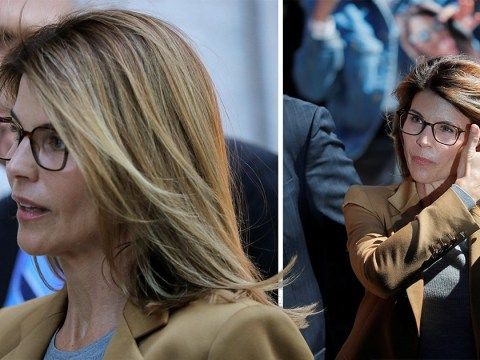 Lori Loughlin smiles and greets fans as she struts into arraignment amid college bribery scandal