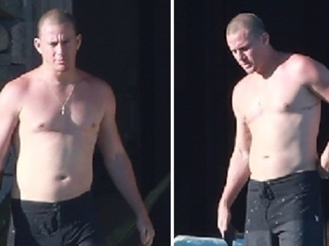 Topless Channing Tatum shows off painful sunburn in Mexico as Jessie J romance heats up