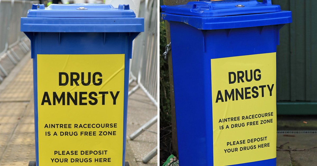 Grand National Festival race-goers urged to dump illegal stash in drug bins