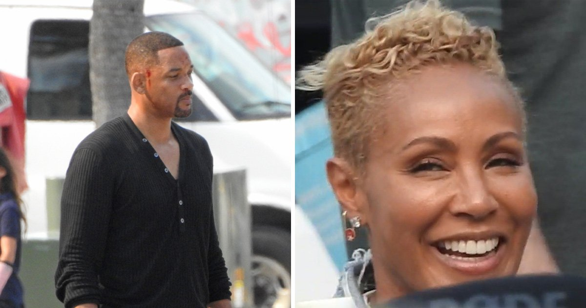 Will Smith joined by wife Jada on Bad Boys 3 set and we're hoping for a cameo