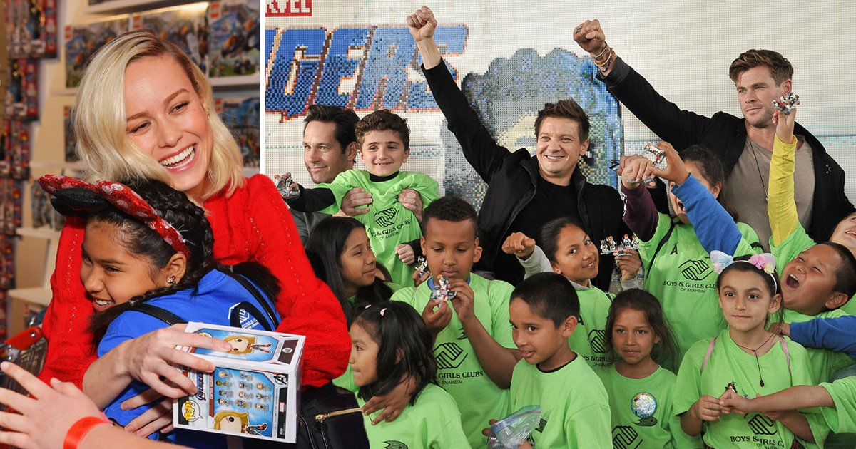 Avengers assemble to meet young Marvel fans after £5.7 million donation for children
