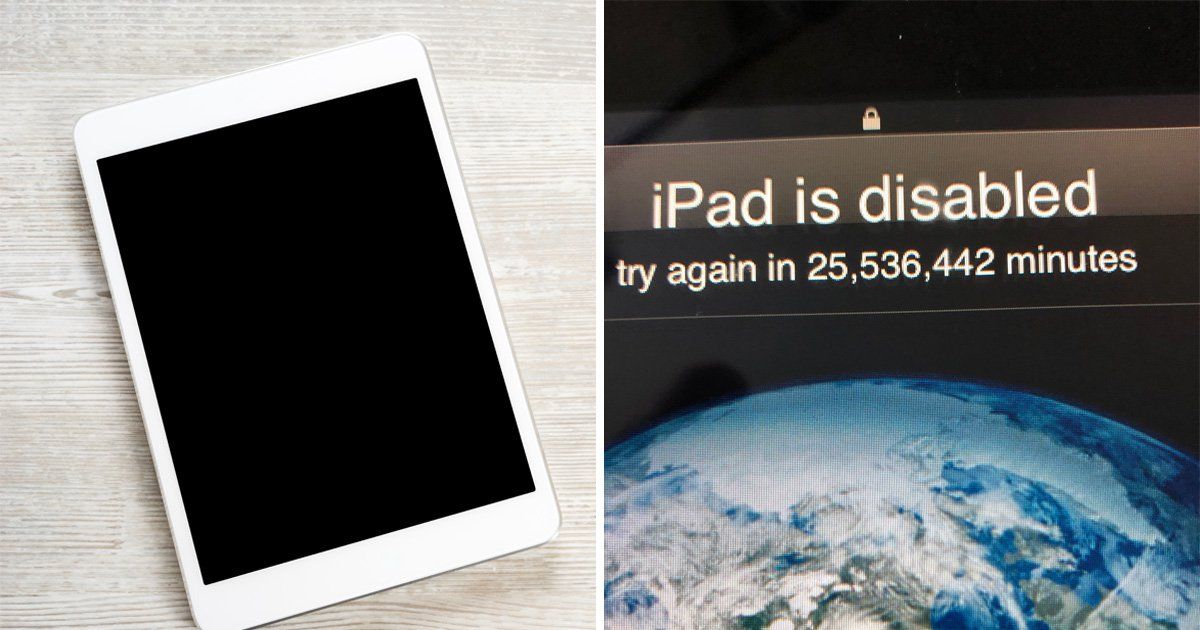Toddler locks dad out of iPad for 25,536,442 minutes