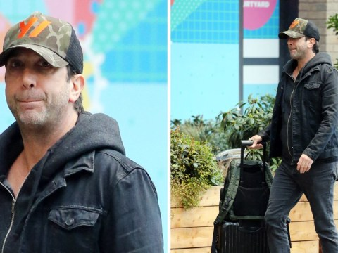 The one where Ross visits the ITV offices: David Schwimmer spotted in London
