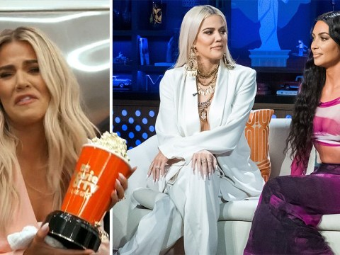 Khloe Kardashian thanks sister Kim for making a sex tape as she makes acceptance speech for reality show award
