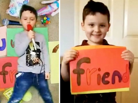 Little boy's adorable friendship song is the best thing you'll see today