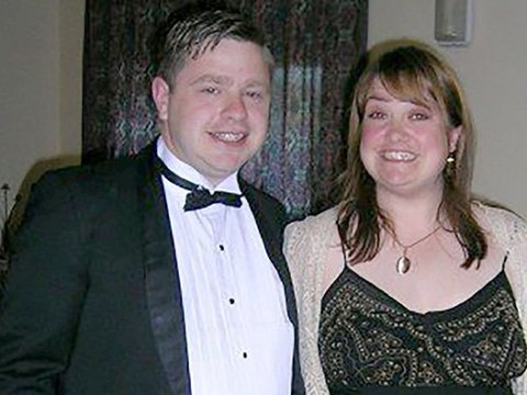 Couple unrecognisable from wedding photos after losing 10 stone between them