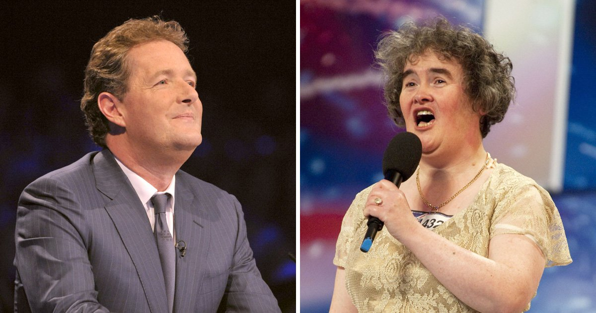 Susan Boyle auditioned for Britain's Got Talent because she had a crush on Piers Morgan: 'I always thought he was special'