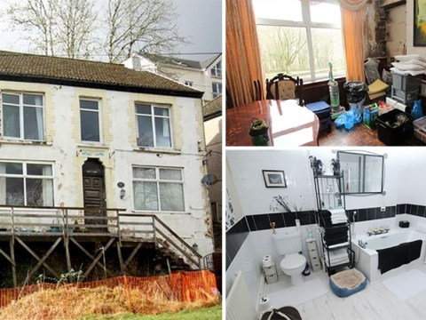 Sinking country house with guide price of £1 sparks bidding war
