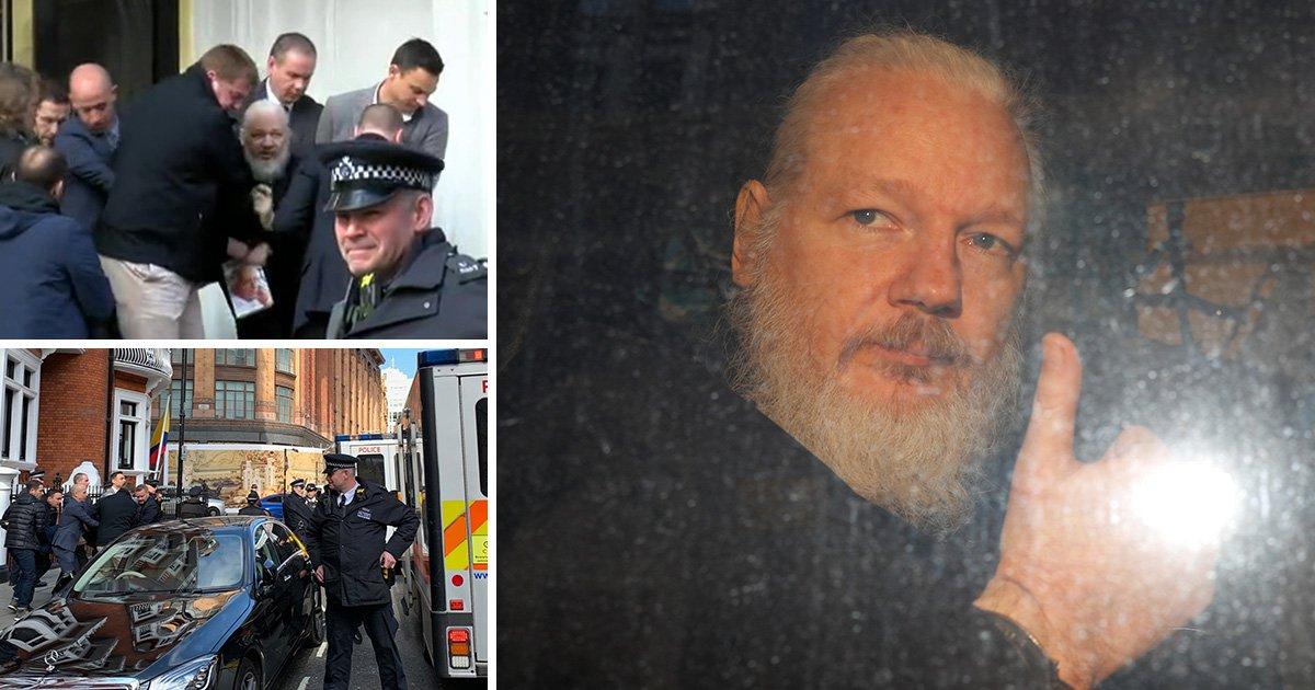 WikiLeaks founder Julian Assange arrested at Ecuadorian embassy