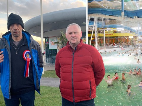 Paedophile hunters protest naked family swim amid fears it will 'scar children'