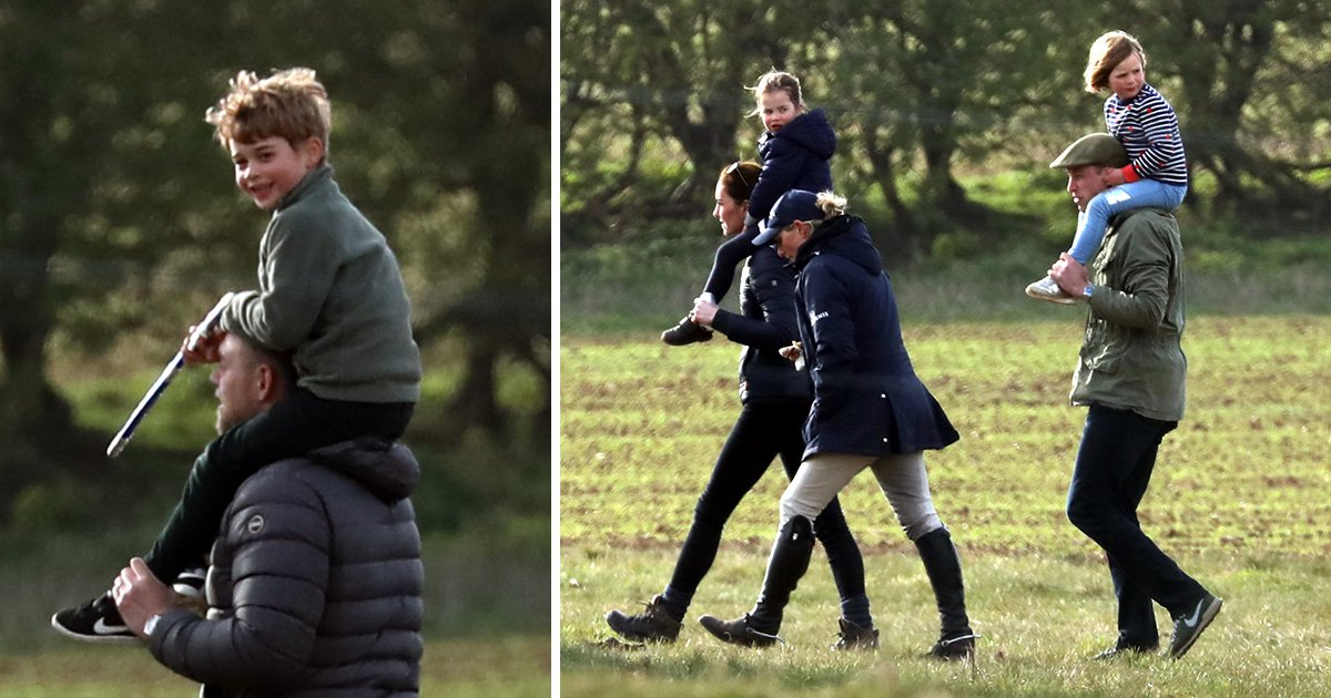 Prince George and Princess Charlotte look very grown up at Zara's horse show